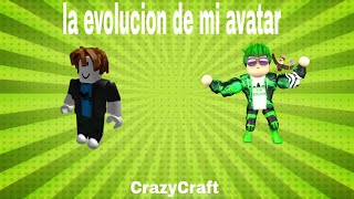 The evolution of my avatar into roblox
