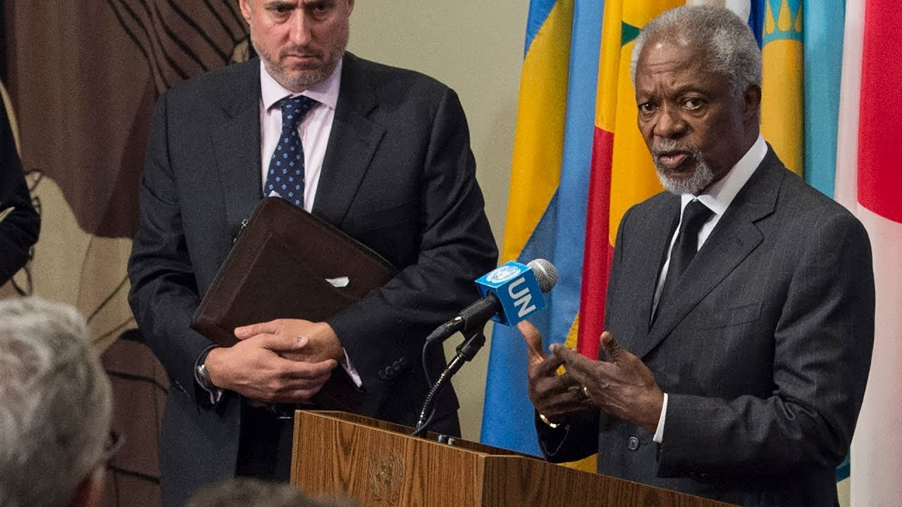 Kofi Annan on the situation in Myanmar - Media Stakeout (13 October 2017)