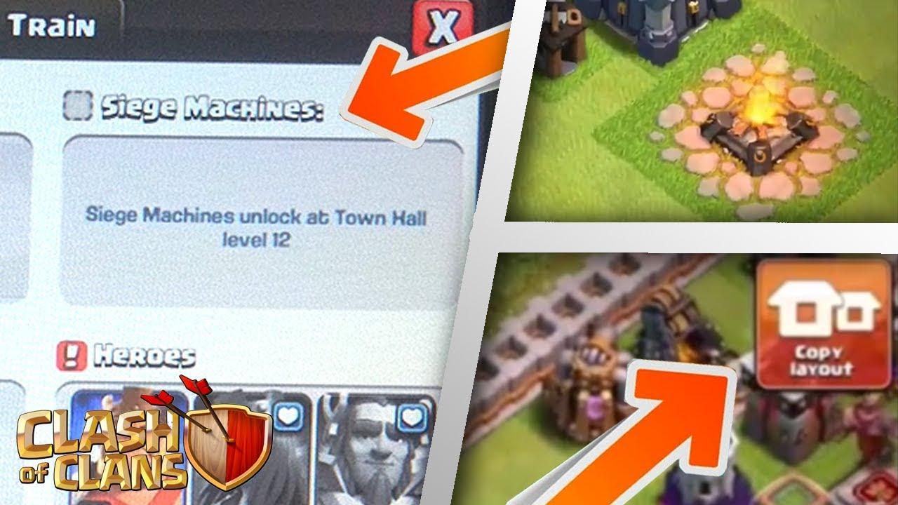 NEW TH12 LEAKS: Siege Machine, Copy Base Layout, Mega Dragon! | Clash of Clans Update