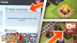 NEW TH12 LEAKS: Siege Machine, Copy Base Layout, Mega Dragon! | Clash of Clans Update