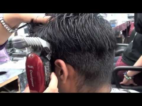 clipper haircut and blending