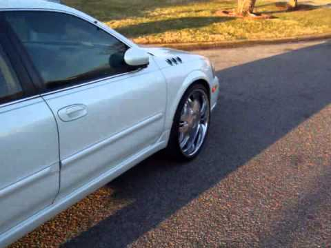 2003 Nissan Maxima On 22s Pearl White Youtube