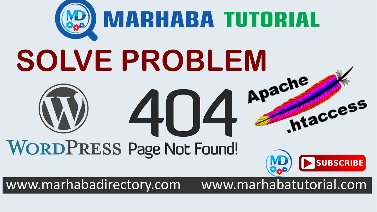 404 not found solve with .htaccess in WordPress