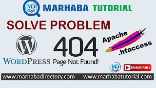 how to solve 404 not found with .htaccess in WordPress(, 2017-03-21T11:47:48.000Z)