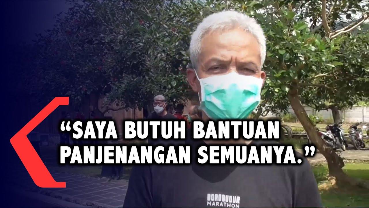 Ganjar Pranowo Buka-bukaan Memohon pada Warga Agar Taat Prokes