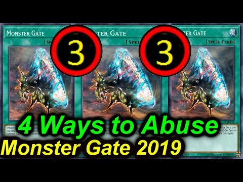 【YGOPRO】MONSTER GATE - 4 DECKS THAT CAN ABUSE IT TCG BANLIST JULY 2019