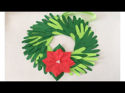 Corona navideña. Ideas navideñas para preescolar. Christmas decorations. Decoraciones navideñas.