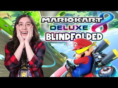 Mario Kart 8 Deluxe Blindfolded Challenge! #NintendoSwitchChallenge