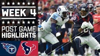 Titans vs. Texans   NFL Week 4 Game Highlights