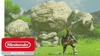 The Legend of Zelda: Breath of the Wild - Official Game Trailer - Nintendo E3 2016(Check out the official game trailer for The Legend of Zelda: Breath of the Wild from E3 2016. Pre-Order Now! : https://goo.gl/ORu4P8 Step into a world of ..., 2016-06-14T16:06:59.000Z)