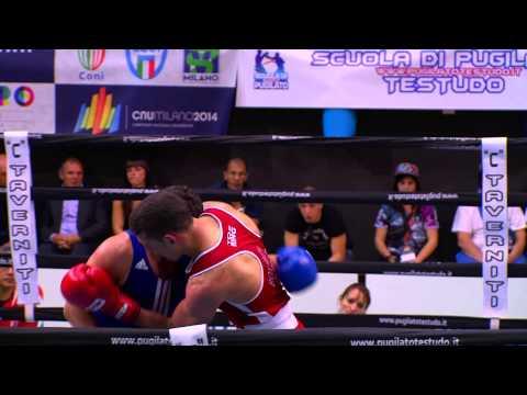 Boxe Giulio Zito vs Luca Capuano. Finale Campionati Italiani CNU 2014