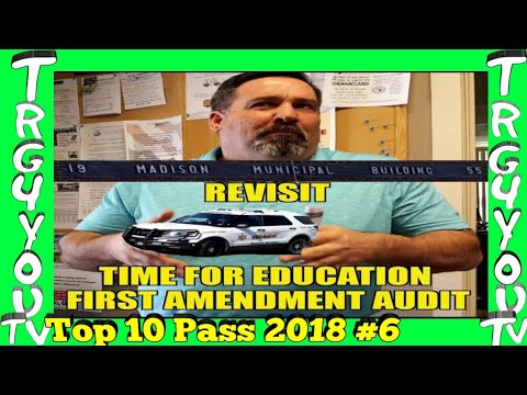 First amendment audit Madison municipal REVISIT Its education time part 3