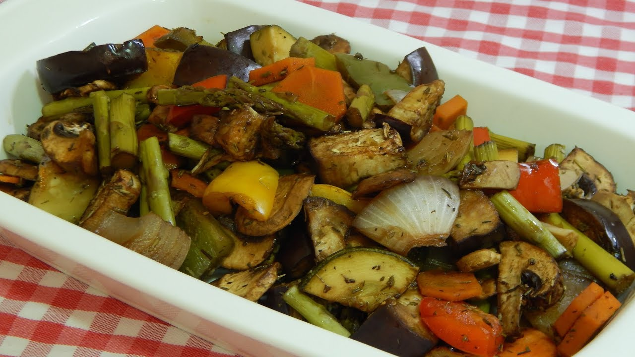 Receta Muy Fácil Y Sana De Verduras Deliciosas Asadas Sin Aceite
