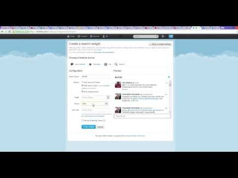 How to Add Twitter Widget on Google Sites