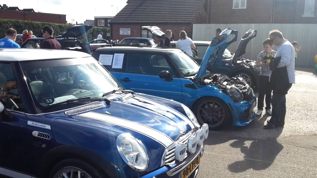 Turnout For Mini Car Show In Penkridge