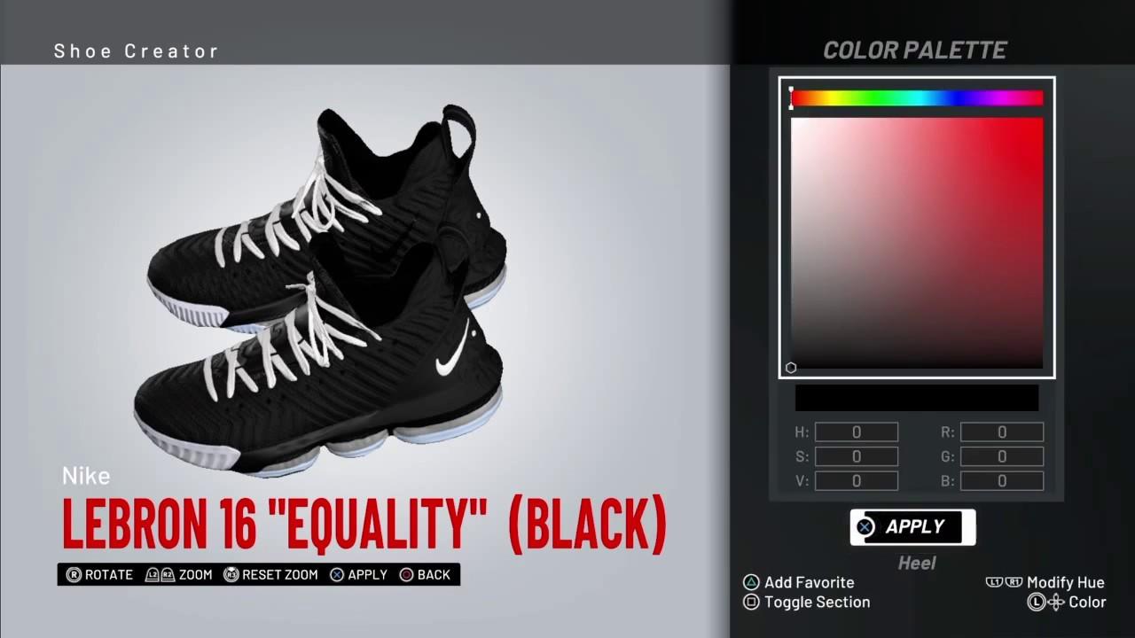 NBA 2K19 Shoe creator *#NBA2K19* LEBRON
