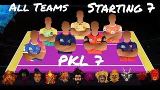 Pro Kabaddi 2019 | Starting 7 | Player Positions | Season 7
