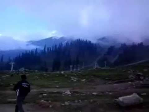Snow hill views of Gulmarg in kashmir Shooted by mobile camera Best hill stations in india