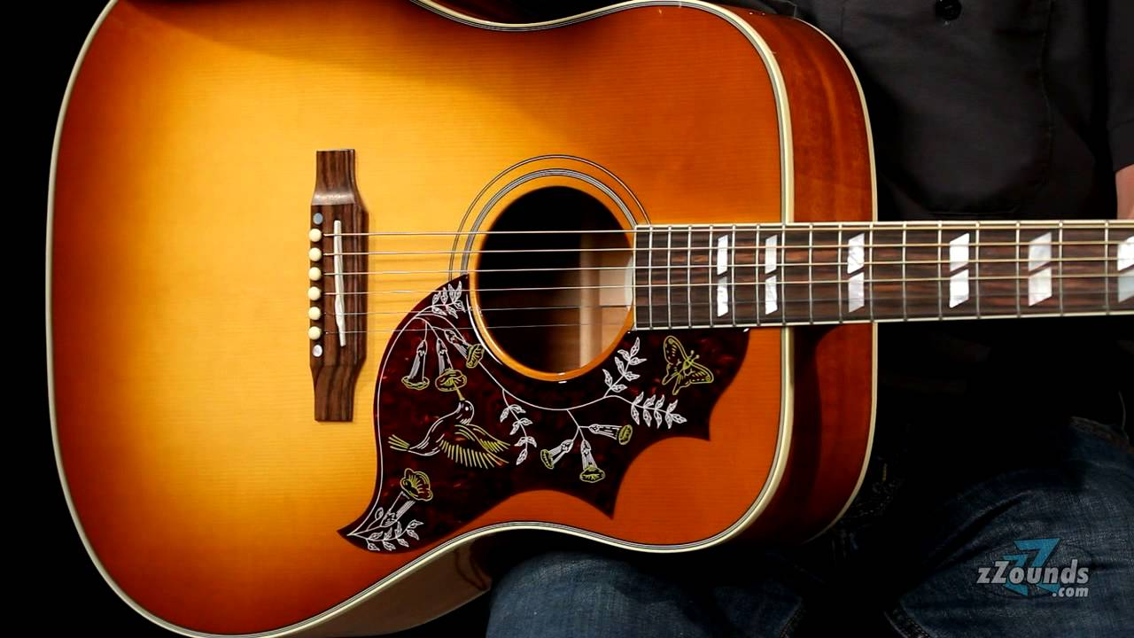 gibson hummingbird dreadnought acoustic electric guitar youtube. Black Bedroom Furniture Sets. Home Design Ideas