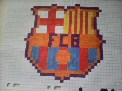 Pixel Arts Logo Du Fcb Youtube