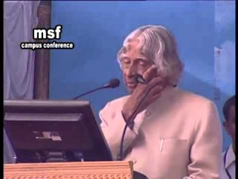 Pk firos  and  apj  abdul  kalam  in msf  conferen
