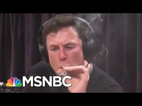 Tesla CEO Elon Musk Smokes Weed During Joe Rogan Podcast Interview   Velshi & Ruhle   MSNBC