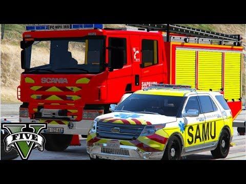 🚒GTA V - Rescue Mod #23: SAMU-PARIS | Revolta dos Bombeiros