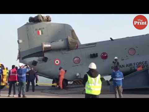 India gets its first Chinook heavy lift helicopter, expected to be stationed in Chandigarh