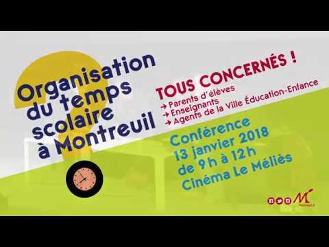 Organisation du temps scolaire à Montreuil