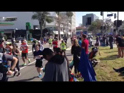 Los Angeles marathon 2017, Brentwood Santa Monica