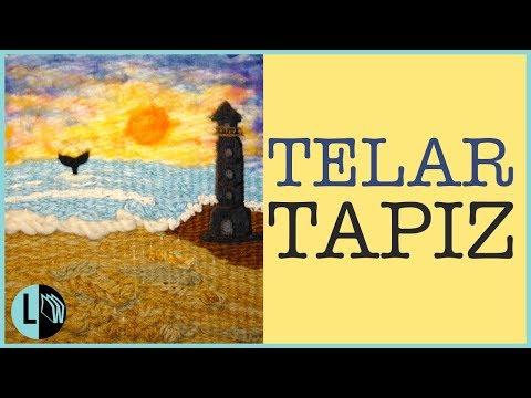 Telar Decorativo Con Vellón Fieltro Paso A Paso Paisaje