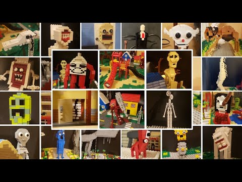All LEGO TREVOR HENDERSON Creatures | Trevor Henderson's Creepy World Compilation! 1,2,3,4 U0026 5