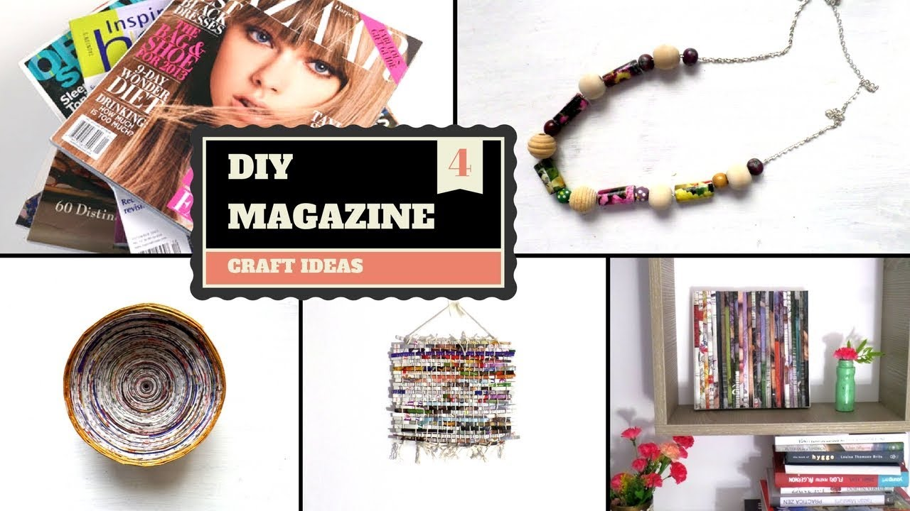 Best Out Of Waste Magazine Projects Crafts Diy Creative Recycled Magazines By Fluffy Hedgehog