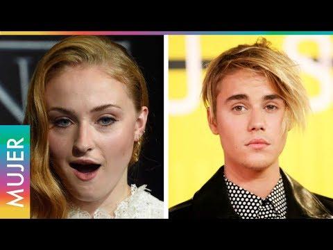 Justin Bieber era masajeado el día que Sophie Turner lo conoció