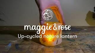 Up-cycled Nature Lantern | | DIY glow lantern craft class series