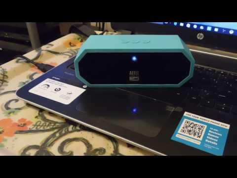 Altec Lansing Bluetooth Speaker Review!!