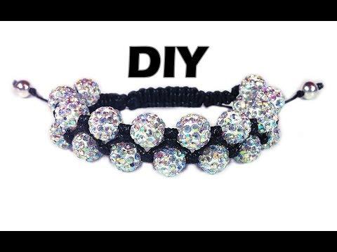 DIY: Double Shamballa Macrame Bracelet / Двойной браслет шамбала своими руками