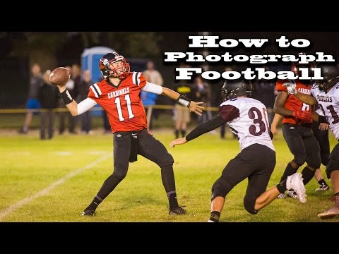 Photographing highschool football (how to photograph football)