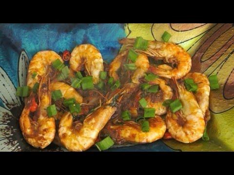 Paano magluto Halabos na Hipon Recipe Stir Fried shrimps prawns Tagalog Pinoy cooking
