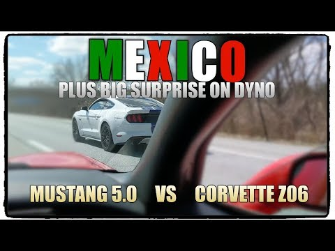 Mustang 5.0 vs Andrews C5 Z06... And Surprise a on Dyno!