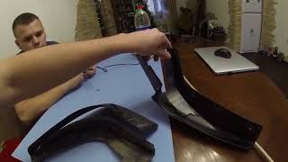 Ремонт брызговиков Киа Соренто / fixing mud flaps Kia Sorento