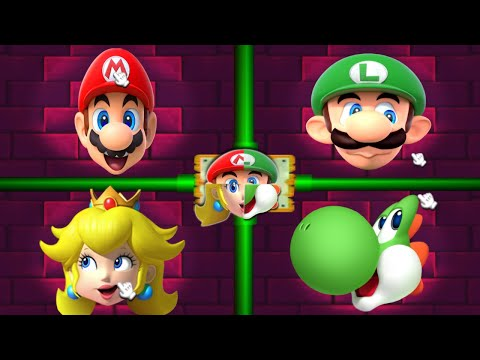 Mario Party 2 MiniGames - Peach Vs Mario Vs Luigi Vs Yoshi (Master Cpu)