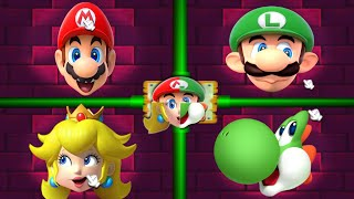Mario Party 2 MiniGames - Peach Vs Mario Vs Luigi Vs Yoshi (...
