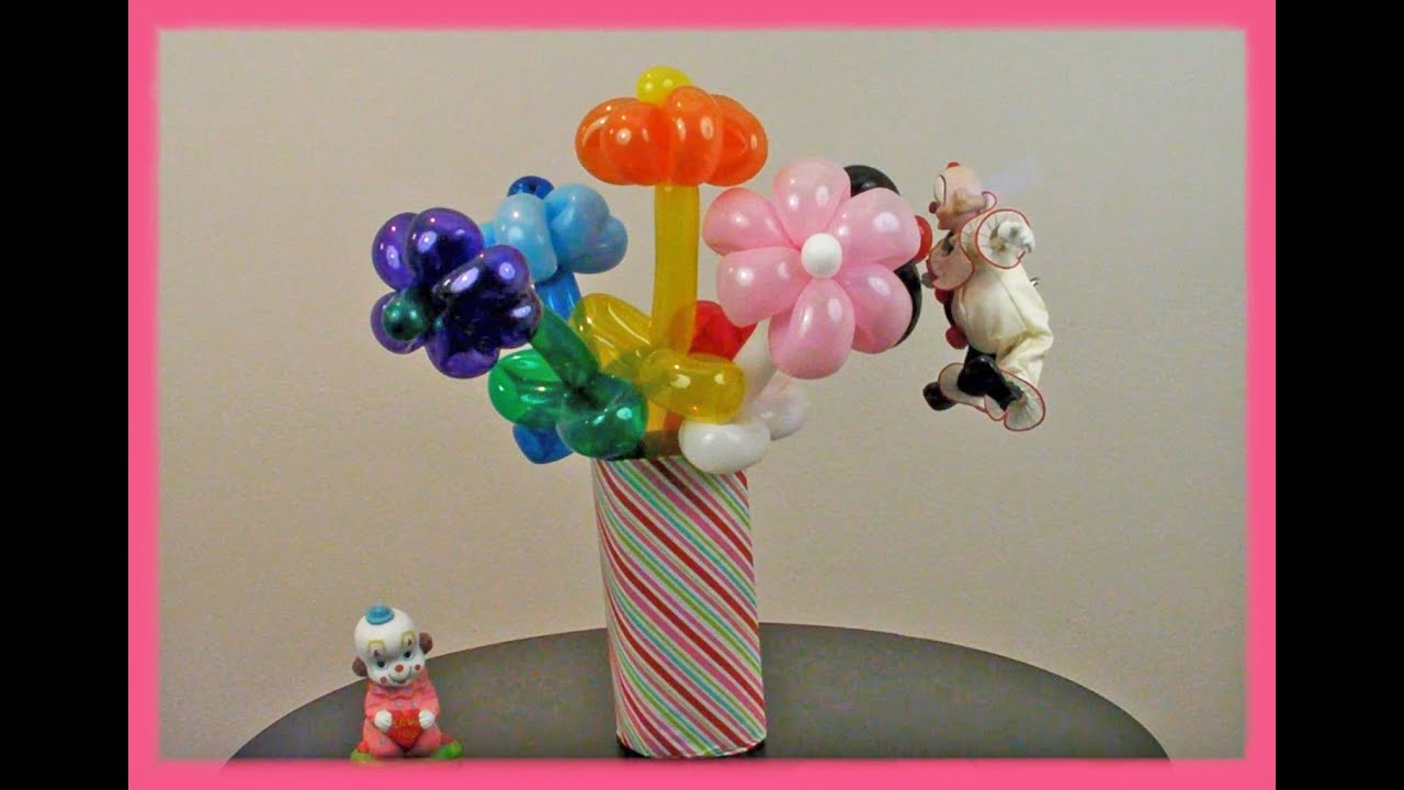 Tutorial: How To Make a Flower Balloon Bouquet - YouTube