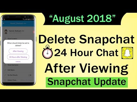 Snapchat New feature - Delete Snapchat 24 Hour Chat After