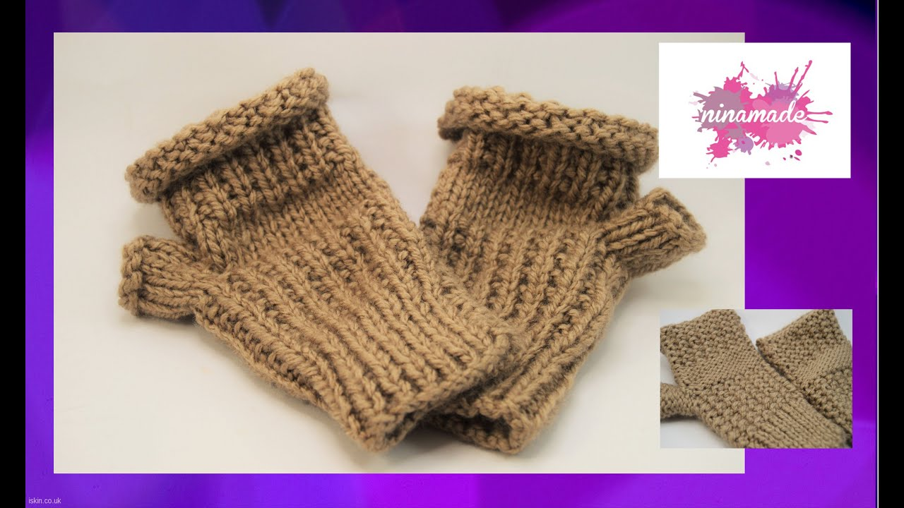 Diy como tejer mitones sin dedos how to knit fingerless - Como tejer com ...