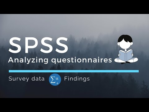 How to analyze data from questionnaires using SPSS? Practical application using Google form output.