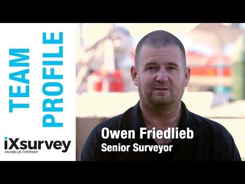 Team Profile: Owen Friedlib // IXBLUE // Marine Survey Specialists