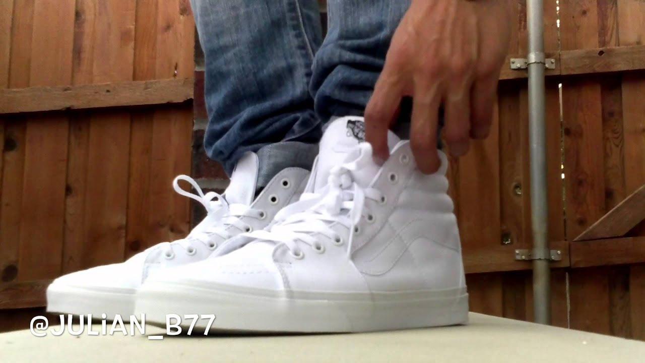 deadf0c399 White Vans sk8-hi - YouTube