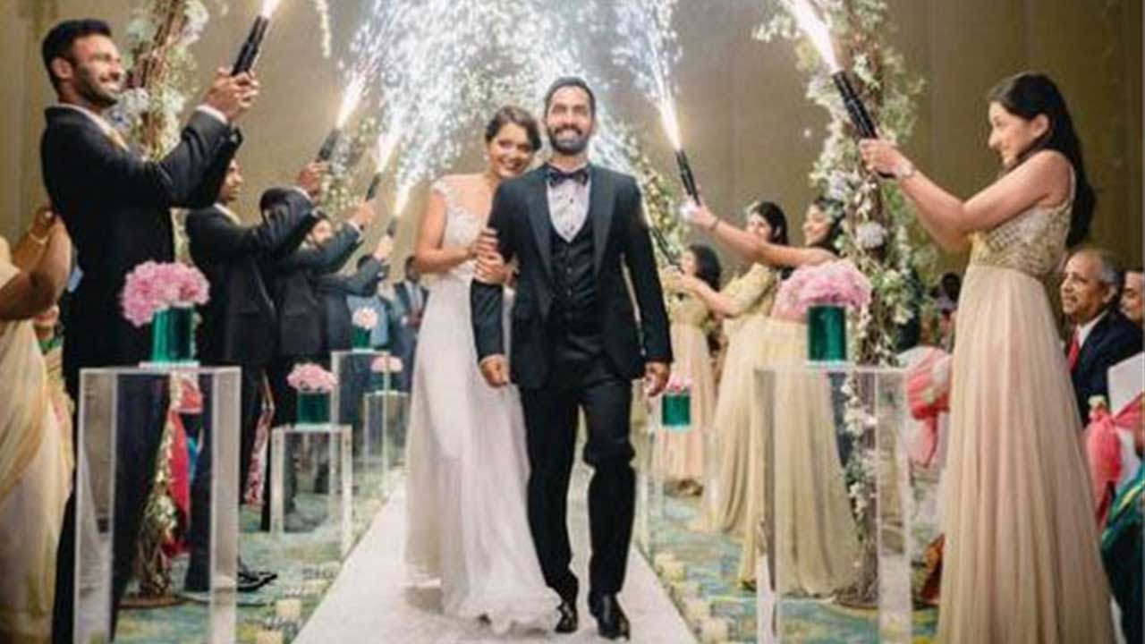 Bride And Groom S Grand Entrance: Dinesh Karthik Married Dipika Pallikal In A Christian